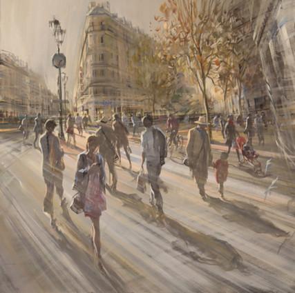 Rue de Rivoli Les Halles 80x80cm