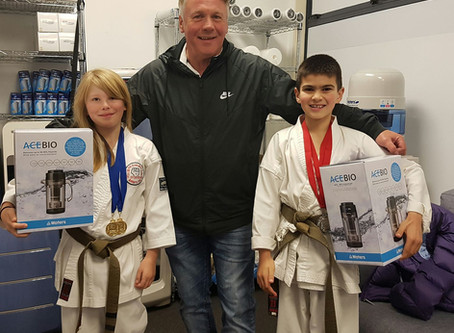 Winning Gold & Silver in the Karate Championships