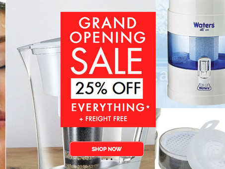 Waters Massive 25% OFF all stock & Freight Free