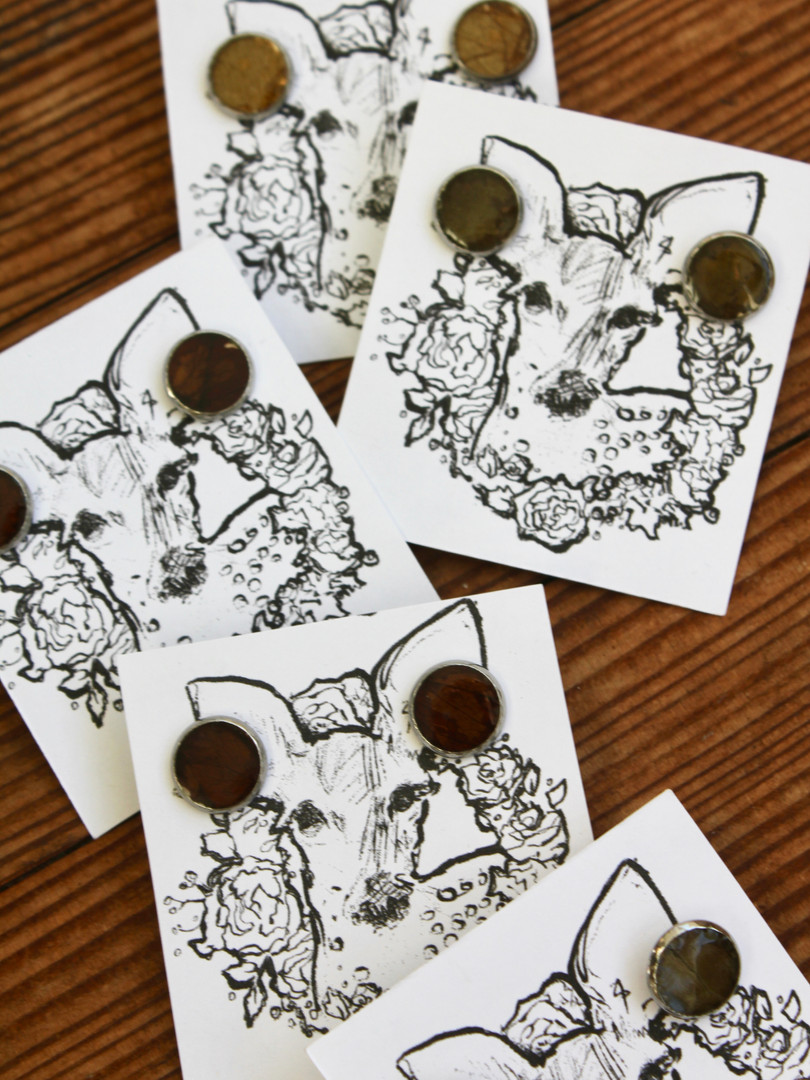 'Resin Earring Deer Format' Packaging De