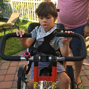 Jacopo Enjoys his Adaptive Bike