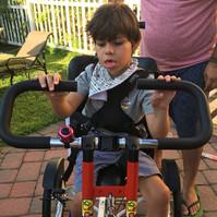 Jacopo Enjoys his Adaptive Bike