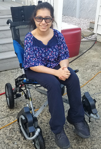 Nicole Gets a Specialized Transport Chair