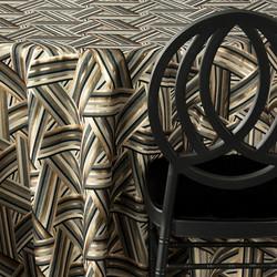 Nuage Black & Gold Linen