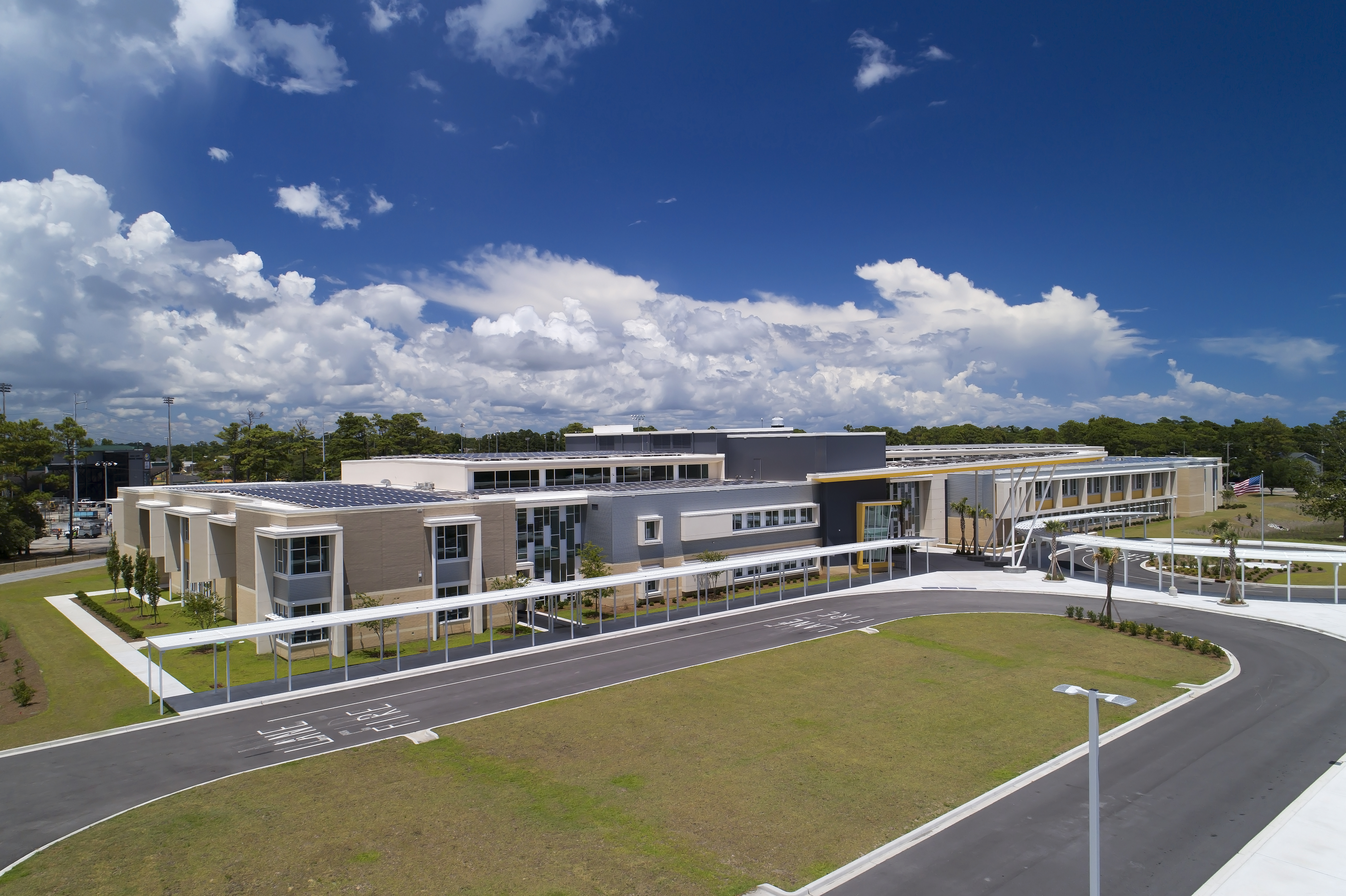 Beach Middle School Drone