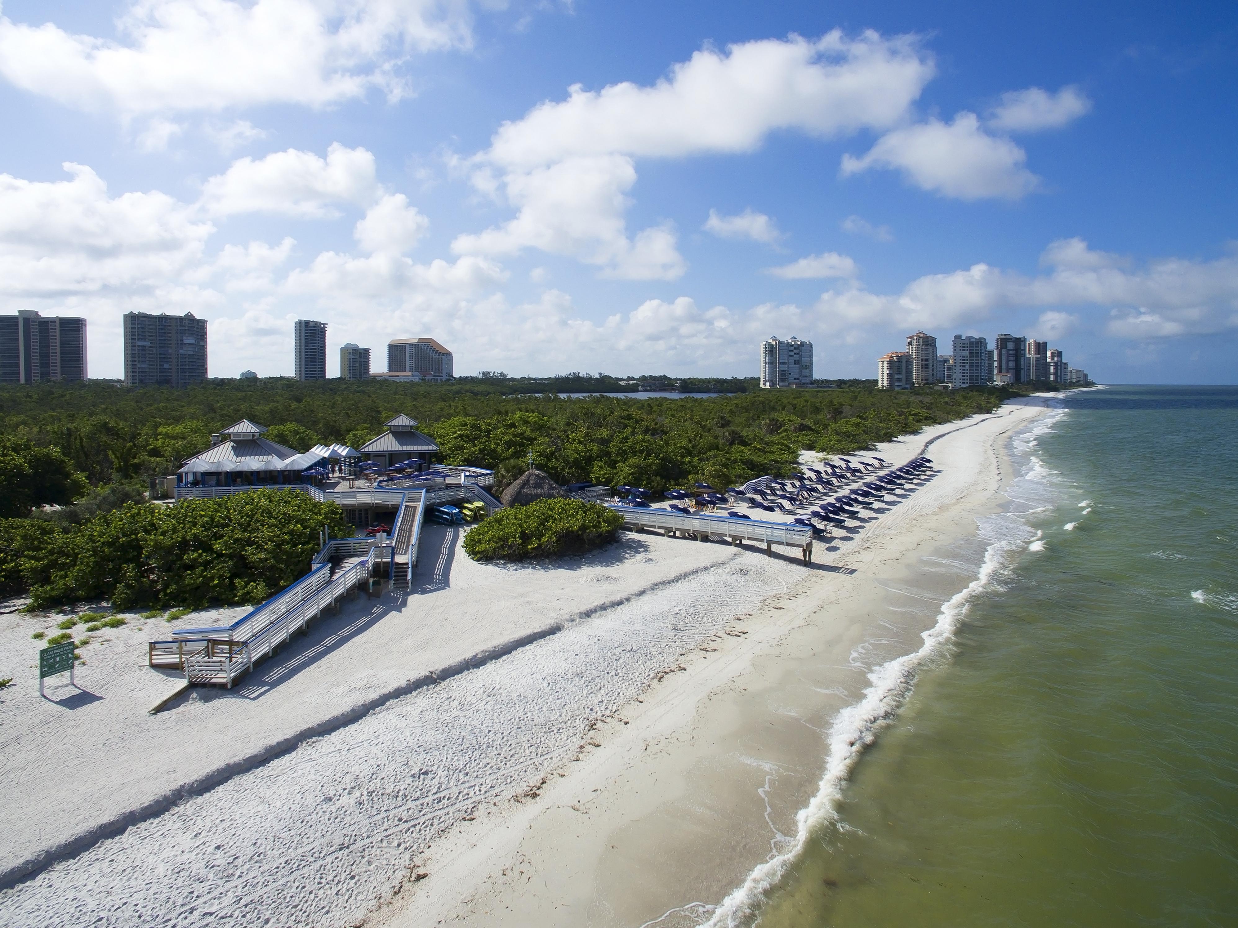 Naples Grande Beach Club Aerial