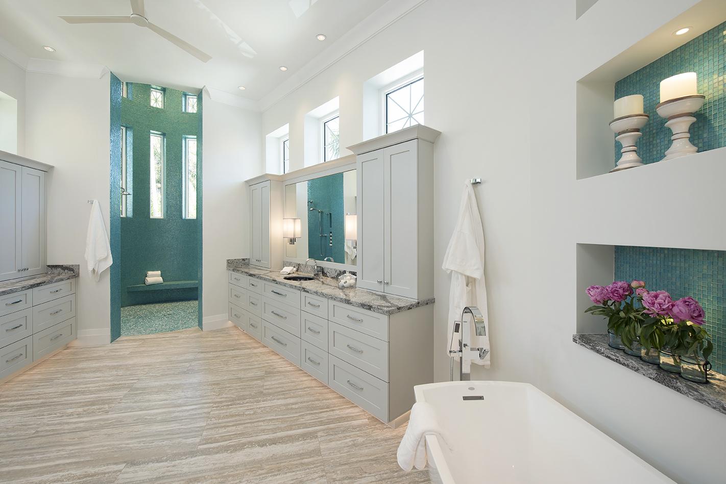 TheKitchenworks Blue Bathroom