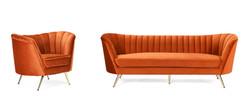 Event Effects Orange Sofa & Chair