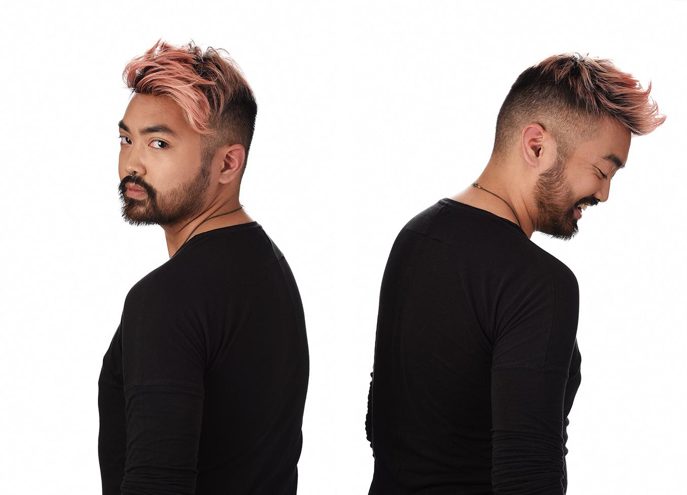 Portrait Pink Hair Dude