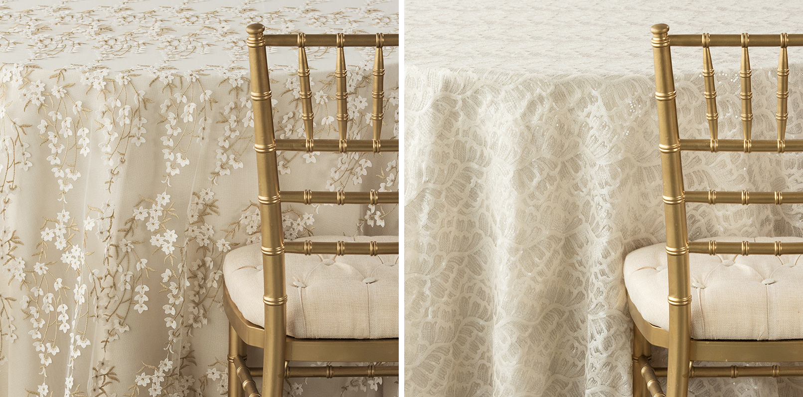 Nuage Linens with Gold Chair