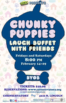 Chunky Puppies Poster