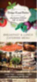 Bridge Road Bistro catering menu