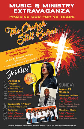 Music & Ministry Extrvaganza flyer