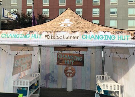Bible Center Changing Hut display