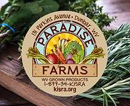 Paradise Farms sticker