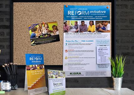 KISRA brochure postcard poster