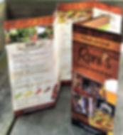 Roni's menu