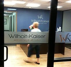 Wilhoit & Kaiser signage