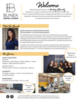 Dr Bunek one pager