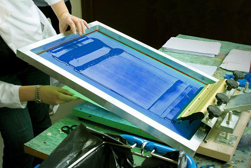 Screen Printing the Blue