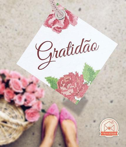Tags de agradecimento para impressão