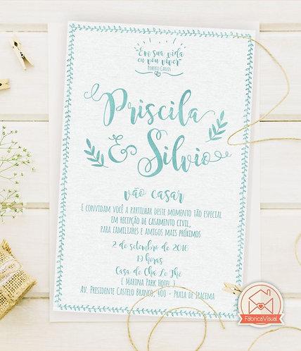 Convite de casamento boho para impressão