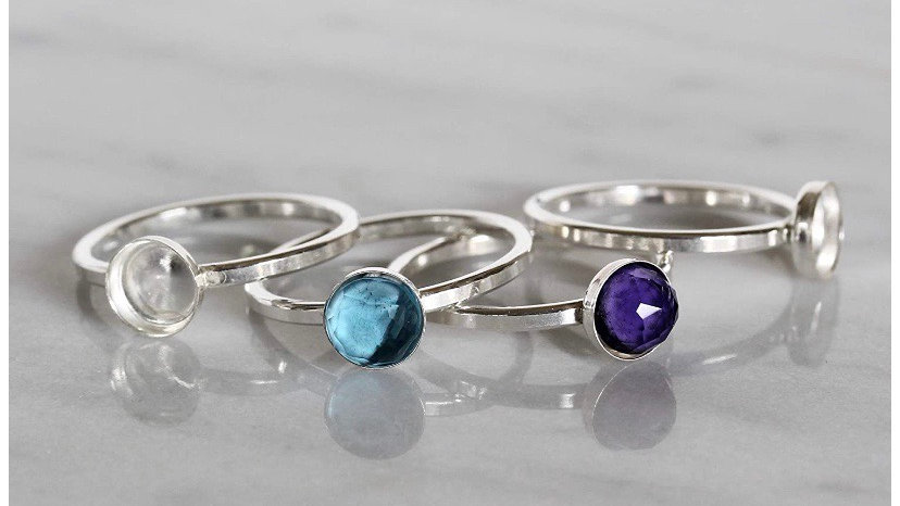 Sterling Silver Stacking Ring (6mm)