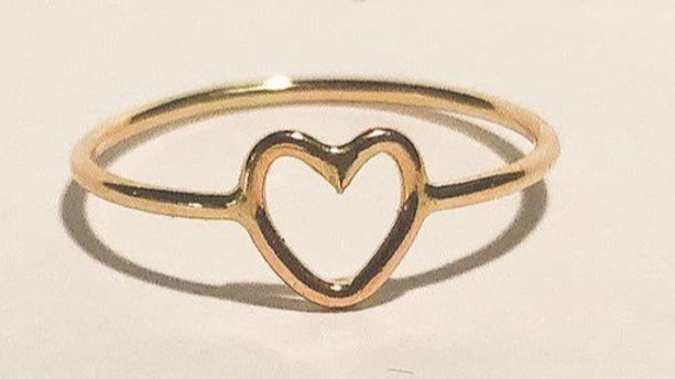 14K Gold Filled Heart Ring