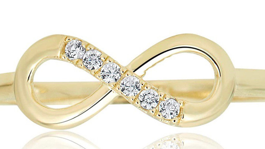 10K Gold Infinity Band Ring