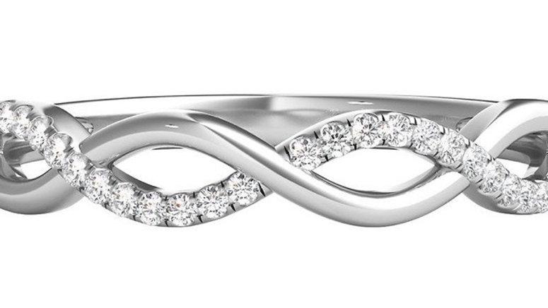 Diamond Infinity Band - 10k White Gold