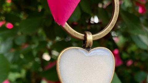 breast milk jewelry heart keychain little foots jewelry