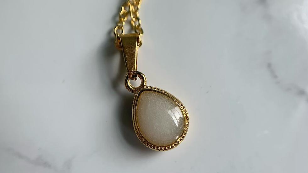 Stainless Steel Teardrop Necklace