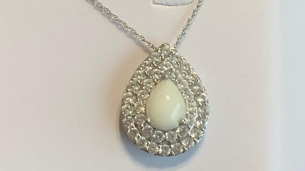 Odette Necklace -10k White Gold