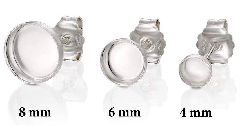 Sterling Silver Bezel Earrings
