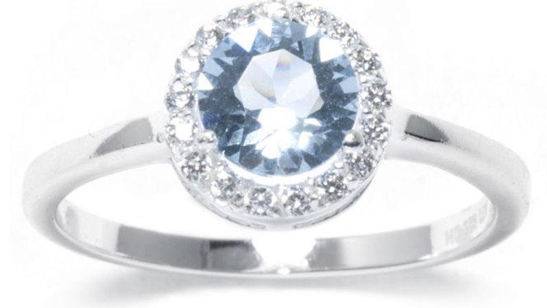Halo White Sapphire