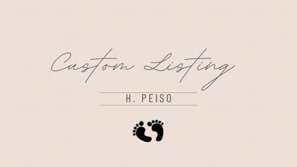 Custom Listing for Helen P.