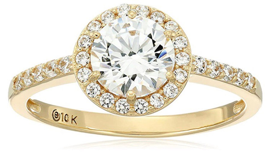 10K Gold Halo Ring
