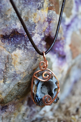 Copper Wrapped Geode