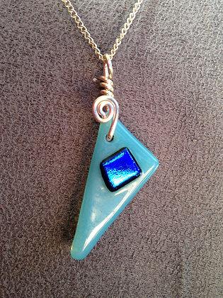 Fused art glass pendant