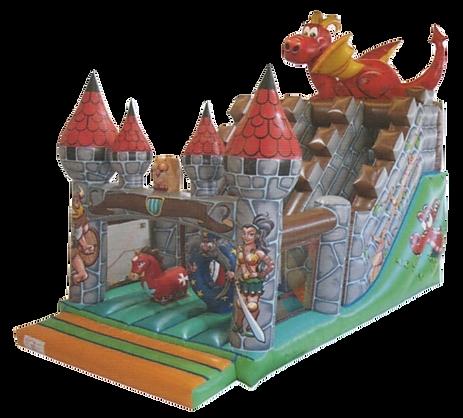 Castillo hinchable Dragon medieval grande alquiler en Albacete y Cuenca
