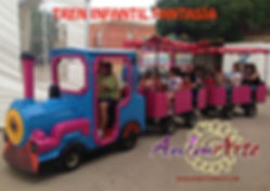 Alquiler de tren infantil para 2 pasajeros en Albacete y Cuenca