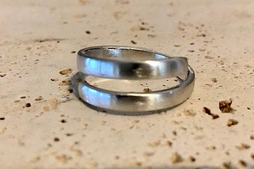 Satin sterling finish ring