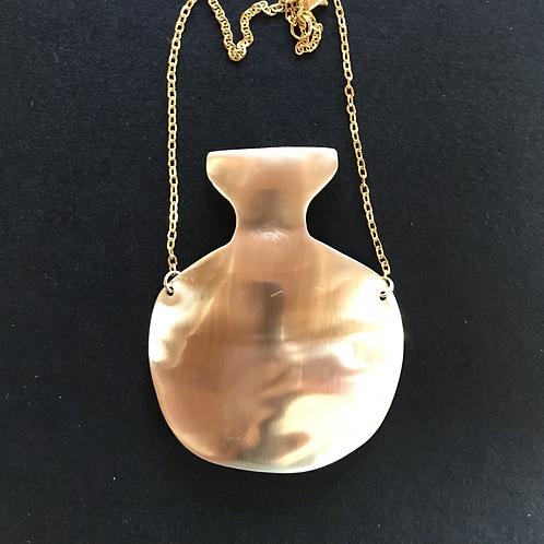 Golden jug necklace