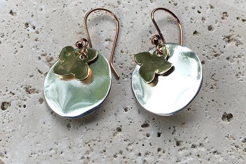 Sterling copper brass earring Triple threat