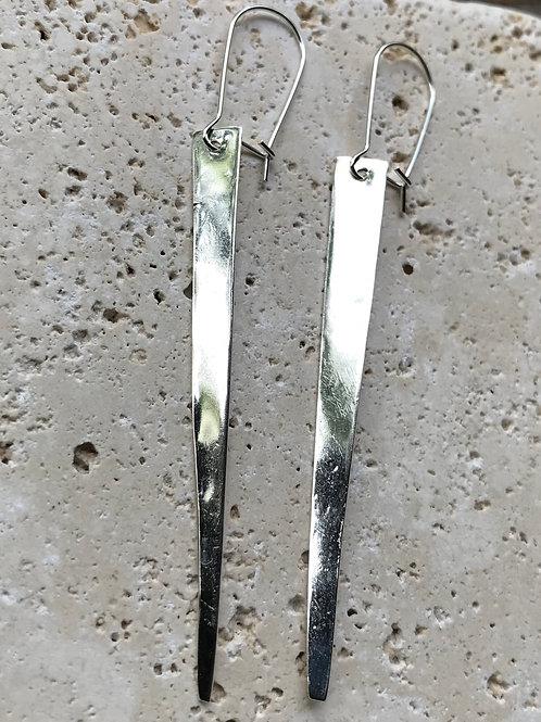Geometric sterling earring