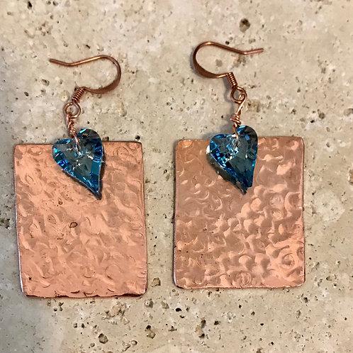 Copper and Swarovski crystal