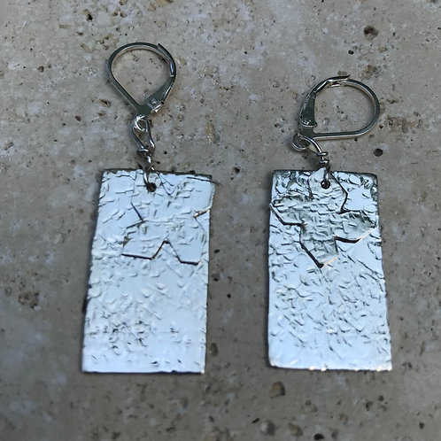 Geometric hammered earrings