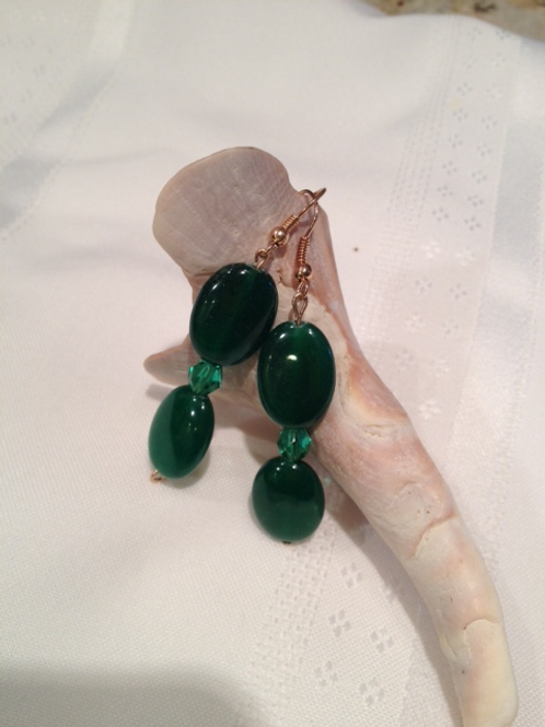 Green with envy earring