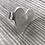 Thumbnail: Sterling heart ring