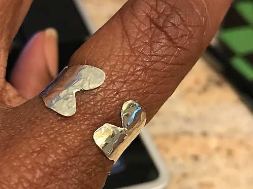 Open Heart adjustable ring
